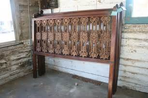 french quarter cast iron wood king headboard 695 queen