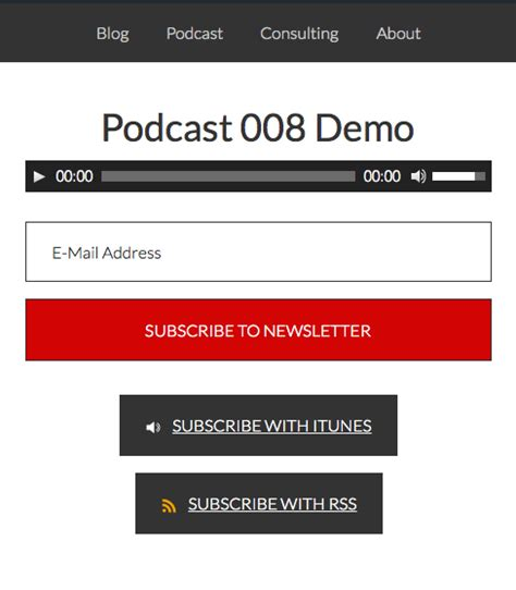 podcast template audio theme for podcasting in genesis