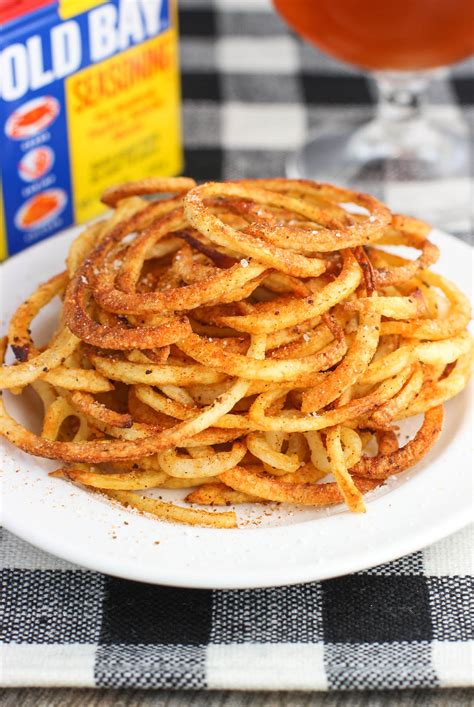 bay fries spiralized baked old bay curly fries