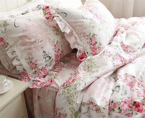 Princess Pink Ruffle Lace Bedding Sets,romantic Floral