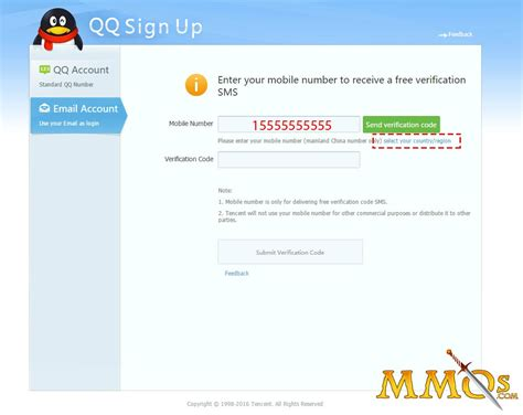 login account mobile number how to set up a qq account and play mmos mmos