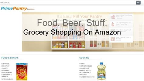 grocery shopping  amazon prime pantry food