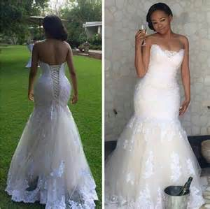 wedding dresses that aren t white real picture 2016 white lace mermaid wedding dresses plus size bodice corset lace up back