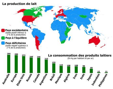 Carte Du Canada Le Monde En Marche by Fichier Production De Lait Et Consommation Des Produits