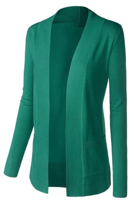 womens plain long sleeve cardigan sweater green pink queen