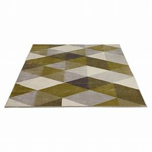tapis design style scandinave rectangulaire geo 230cm x With tapis vert et gris