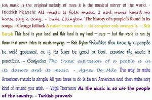 Folk Music Is T... Manly Music Quotes