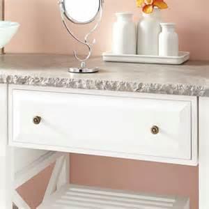 72 quot glympton vessel sink double vanity with makeup area