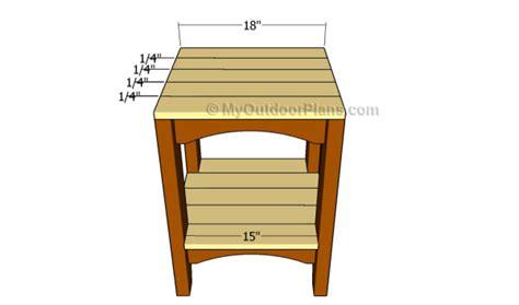 outdoor side table plans myoutdoorplans