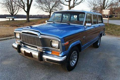 wood panel jeep cherokee sell used 1983 jeep grand wagoneer limited marine teak