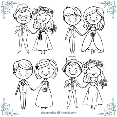 beautiful collection  happy wedding couples  hand