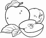 Apple Coloring Pages Colouring Printable Kindergarten Creative Sheets Fruits Fruit Bestappsforkids Adults Preschool Colorir Para Books Drawing Educational Apps Parts sketch template