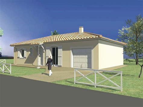 plan maison plain pied 2 chambres modele maison maison 3 chambres et garage toiture 4