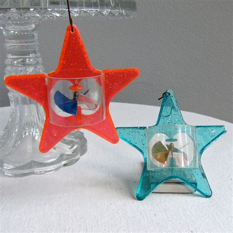 vintage star spinner christmas ornaments by
