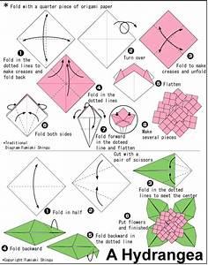 En Origami Flowers  Hydrangea  Hydrangea