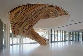 Beautiful Staircase Interior Colorful And Artistic Sculptural Stairs In Beautiful Shape By T Trarc