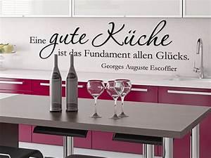 Sprüche Für Die Küche : eine gute k che ist das fundament wandtattoos k che ~ Watch28wear.com Haus und Dekorationen