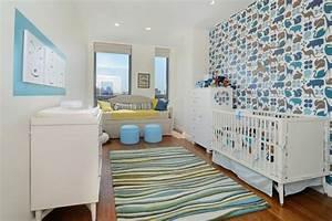 decoration chambre bebe garcon en bleu 36 idees cool With tapis bébé avec canapé bleu design