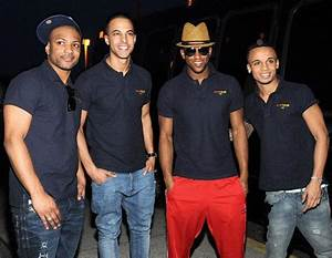 UK Boy Band JLS (former British X Factor stars) Arrive at ...