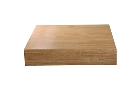 Oak Corner Shelf Quadrant Mitre Square Front 20mm