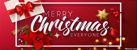 merry christmas everyone facebook cover photo fbcover com