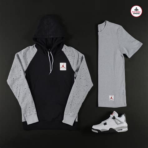 Air Jordan 4 White Cement Outfit backgroundheaven.co.uk