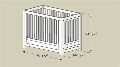 twin size crib  special  child plans cribs