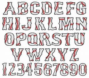 baseball font embroidery font applique and embroidery With sports alphabet letters
