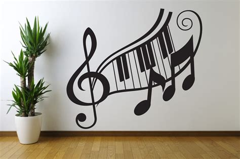 note treble clef wall decal