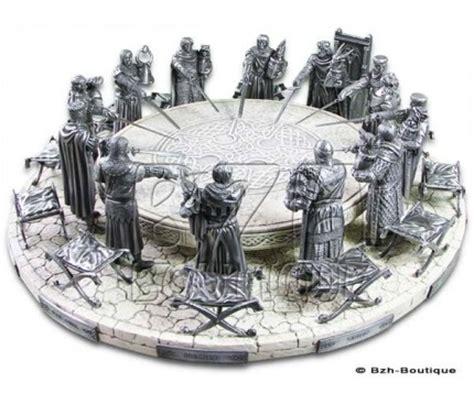 la table ronde et chevaliers les 233 tains du graal sur bzh boutique produits bretons et celtes