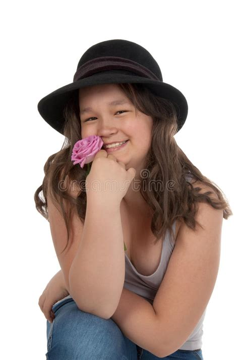 Asian Teen Girl In Black Hat Royalty Free Stock Image Image 24940736