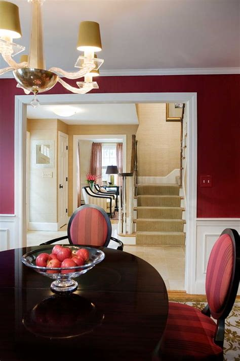 dipped  cranberry monochromatic rooms