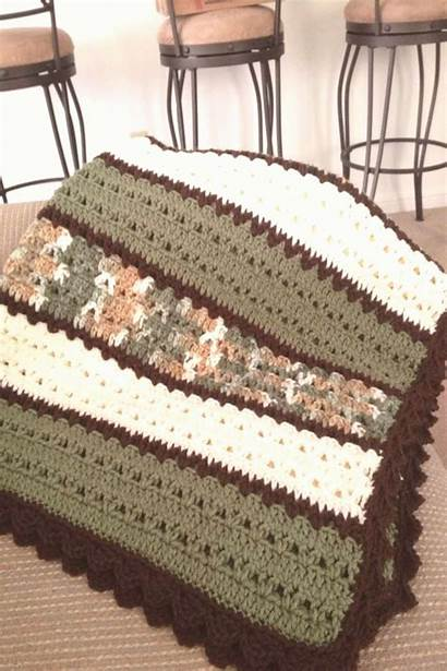 Crochet Double Blanket Afghan Afghans Brown