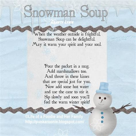 life   foodie   family snowman soup