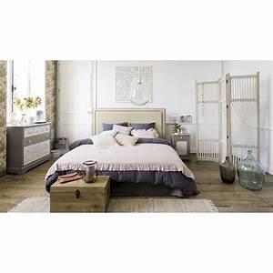Tete De Lit Lin : t te de lit 180 en lin beige elise maisons du monde ~ Melissatoandfro.com Idées de Décoration