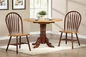Sunset Trading 3pc 42″ Round Drop Leaf Dining Set with