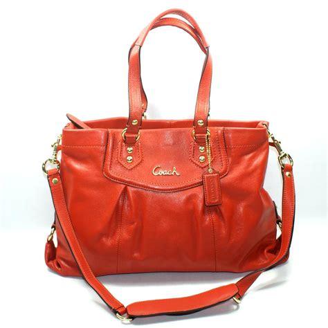 coach ashley leather carryall handbag shoulder bag  coach