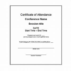 High quality attendance award certificate sample for for Certificate of attendance seminar template