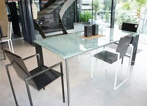 Table Haute En Verre : table haute m tal plateau verre table design ~ Teatrodelosmanantiales.com Idées de Décoration
