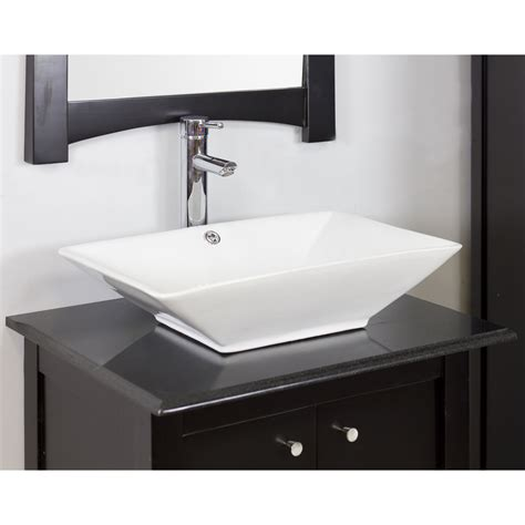 Rectangle Bathroom Sink by American Imaginations Above Counter Rectangle Vessel