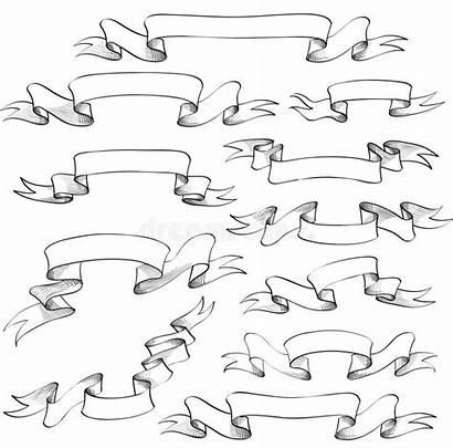 Ribbon Vector Icon Banners Scrapbook Drawn