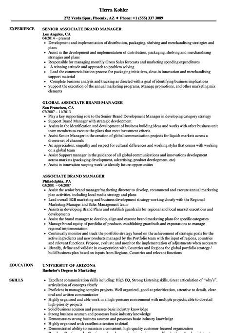 Brand Manager Resume by Associate Brand Manager Resume Sles Velvet
