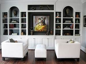 Bookcase, Living, Room, Contemporary, With, Wooden, Flooring, Shelf, Bookcases