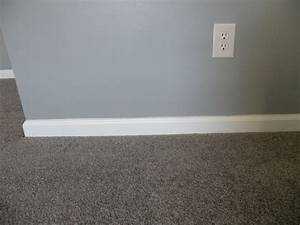 Gray walls gray carpet with white trim my projects for Bedroom carpet colours