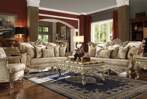 Homey Design : Hd-04 Homey Design Upholstery Living Room Set Victorian
