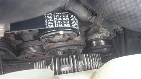 bad ac compressor breaks serpentine belt clublexus