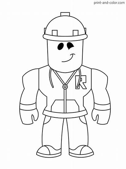 Roblox Coloring Pages Printable Boys Cartoon Character
