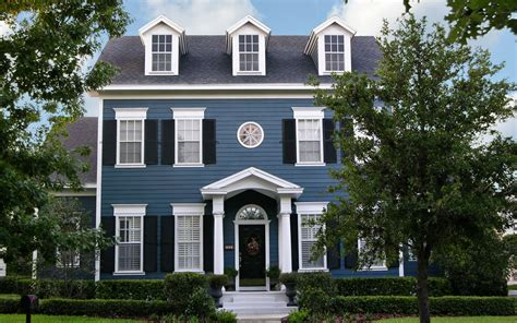 Colonial Home by Blue Colonial House House Exterior Best