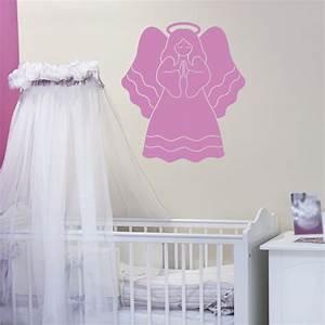 stickers muraux avec l39ange With chambre bébé design avec gel douche fleur de tiaré