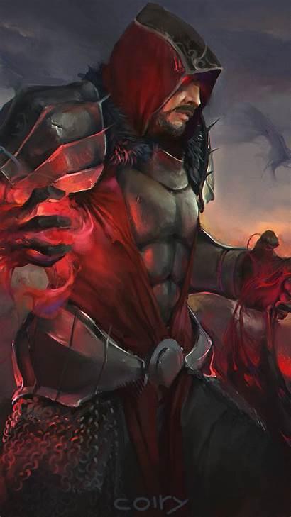 Sorcerer Magic Hood Armour Fantasy Iphone Wallpapers